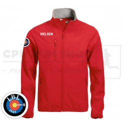 Clique Basic Softshell Jacket Men, red - Lyngby Bueskyttelaug