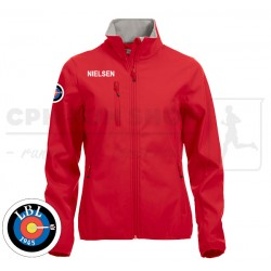 Clique Basic Softshell Jacket Women, red - Lyngby Bueskyttelaug