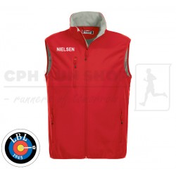 Clique Basic Softshell Vest Men, red - Lyngby Bueskyttelaug