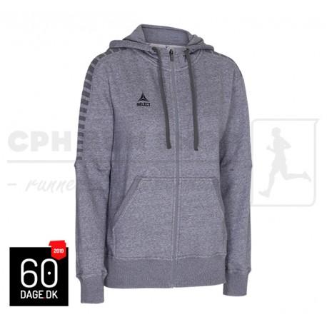 Zip Hoodie Torino Women Grey Melange - 60dage