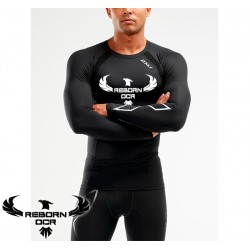 Compression Long Sleeve Top - Black/Silver - Reborn