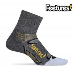 Feetures Elite Merino+ Ultralight Quarter, grey/yellow