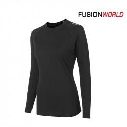 Fusion C3 Merino LS Women, black