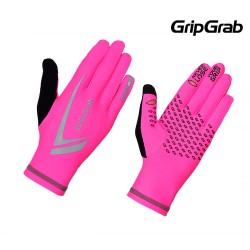 GripGrab Running Expert Vinter Handske, Pink Hi-vis