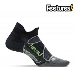 Feetures Elite iWick Ultra Light No Show, black/reflector