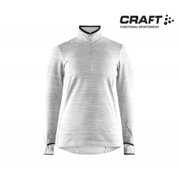 Craft Grid HalfZip Women Grey Meiange