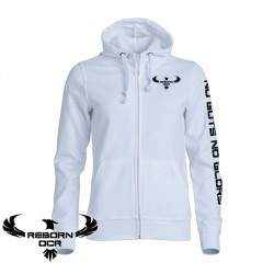 Clique Basic Hoody Full Zip, Women - White - Reborn