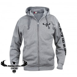 Clique Basic Hoody Full Zip, Men - Grey - Reborn
