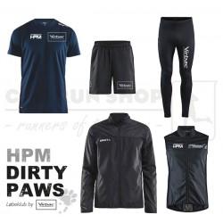 Pakke 2 Jakke-Tee-Tight-Shorts-Vest, Men - HPM Dirty Paws