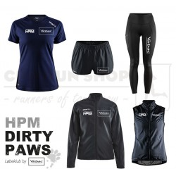 Pakke 2 Jakke-Tee-Tight-Shorts-Vest, Women - HPM Dirty Paws