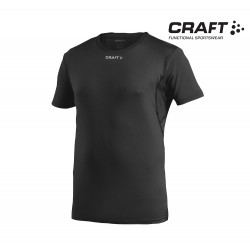 Craft Cool Tee With Mesh T-shirt, black