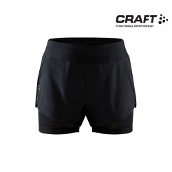 Craft ADV Essence 2-in-1 Shorts Woman, black