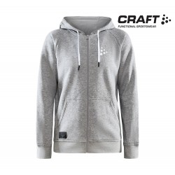 Craft Core Zip Hood Woman, grey melange