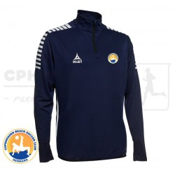 Select Monaco 1/2 Zip Training Sweat, navy - Cph Beach Soccer Club