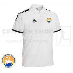 Select Monaco Technical Polo, white - Cph Beach Soccer Club