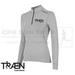 Fusion C3 Zip Neck Women, grey - Træn med Mette