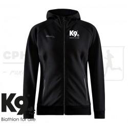 Craft Core Soul Full Zip Hood, Women - K9 Biathlon