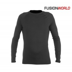 Fusion Merino Long Sleeve Men, black