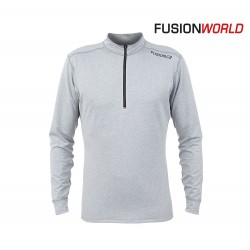 Fusion C3 Zip Neck Hoody Men, light grey melange