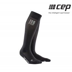 CEP Merino Run Sock Woman, anthracite/black