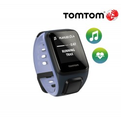 TomTom Runner Cardio + Music (S), sky captain/purple haze