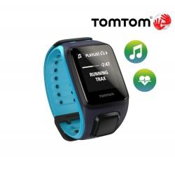 TomTom Runner Cardio + Music (L), sky captain/scuba blue