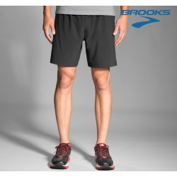 Brooks Sherpa 7' 2 in 1 Shorts Mens, black