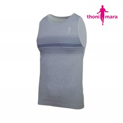 Thoni Mara Breeze Singlet Men, light carbon