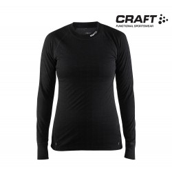 Craft Warm Wool Nordic Crewneck Woman, black