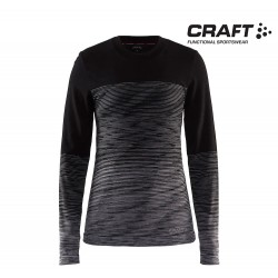 Craft Wool Comfort 2.0 Crewneck LS Woman, black