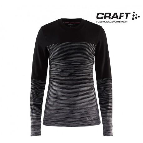 Craft Wool Comfort 2.0 Crewneck LS Woman, black