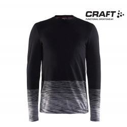 Craft Wool Comfort 2.0 Crewneck LS Men, black