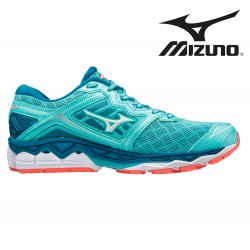 Mizuno Wave Sky Women aquasplash/white/hotcoral