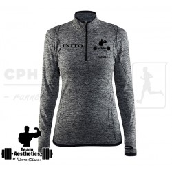 Active Comfort Zip, Women | grå - Team Aesthetics
