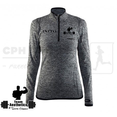 Active Comfort Zip, Women   grå - Team Aesthetics