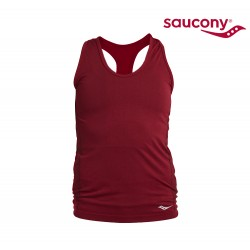 Saucony Bell Lap Seamless Tank Top Woman, burgundy