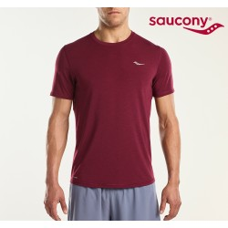 Saucony Freedom S/S T-shirt Men, burgundy