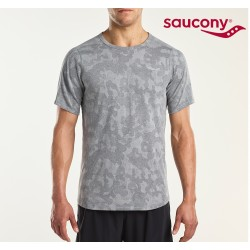 Saucony Negative-Split S/S T-shirt Men, grey