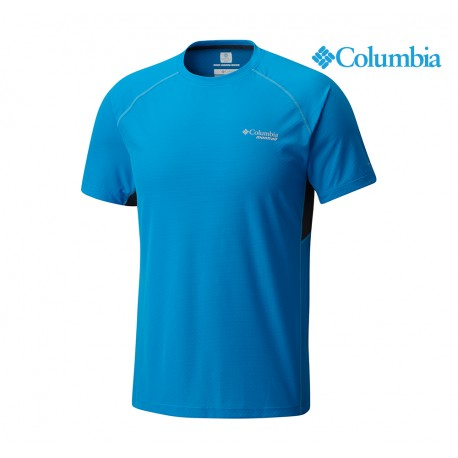 Columbia Montrail Titan Ultra Short Sleeve Shirt Men, compass blue