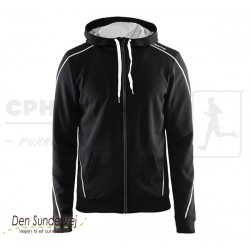 In-The-Zone Full Zip Hood, Men - sort - Den Sunde Vej